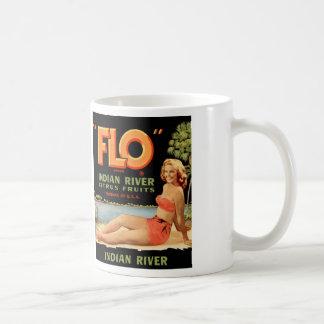 Rétro Pin vintage de caisse de fruit de kitsch Mug