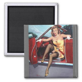 Rétro Pin vintage de Gil Elvgren vers le haut de f Aimant