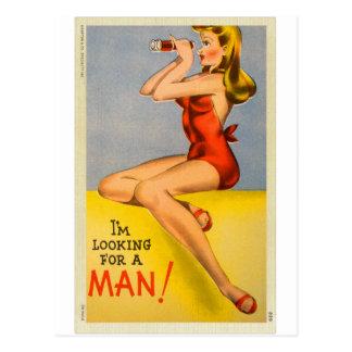 Rétro Pin vintage de kitsch vers le haut de carte