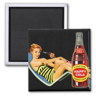 Rétro Pin vintage de kitsch vers le haut de soude  Aimant Pour Réfrigérateur