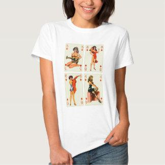 Rétro Pin vintage de kitsch vers le haut des T-shirts