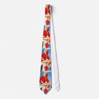 Rétro Pin vintage de Noël de Gil Elvgren VERS LE Cravate