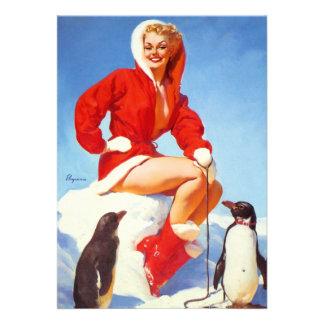 Rétro Pin vintage de Noël de Gil Elvgren VERS LE H Bristols
