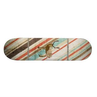 Rétro planche à roulettes de rayures de mâle en br skateboards personnalisables