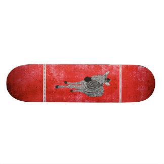 Rétro planche à roulettes rouge de Zeb Skateboards