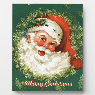 Rétro plaque décorative de Père Noël