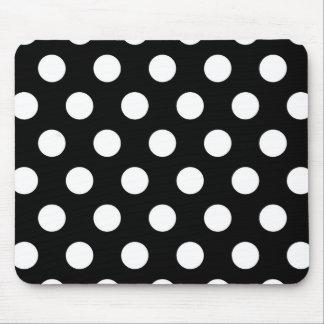 Rétro pois noir et blanc tapis de souris