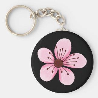 Rétro porte - clé de fleurs de cerisier porte-clés