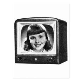 Rétro poste TV de les années 50 BW de kitsch Carte Postale