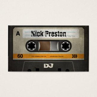 Rétro professionnel frais de la cassette audio | cartes de visite