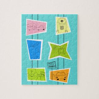 Rétro puzzle atomique de kitsch