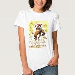Rétro rassemblement vintage de cowboy de rodéo t-shirts