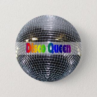 Rétro reine argentée brillante de disco de boule pin's