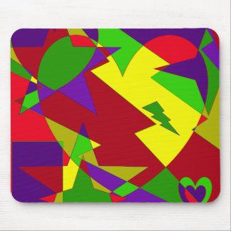 Rétro résumé coloré tapis de souris
