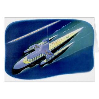 Rétro revêtement d'océan vintage de Sci fi de Carte De Vœux