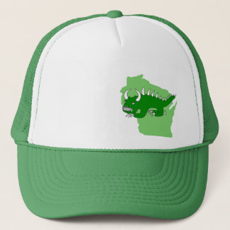 Rétro Rhinelander Hodag et casquette du Wisconsin