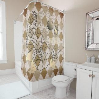 Rétro rideau en douche à motifs de losanges de