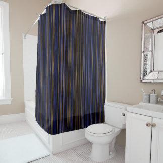 Rétro rideau en douche pourpre brun de rayure