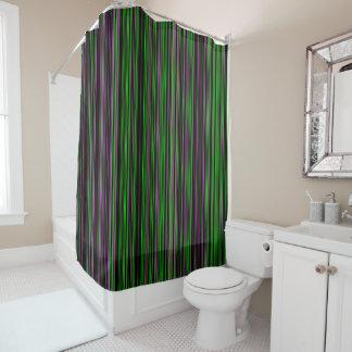 Rétro rideau en douche pourpre de vert de chaux de