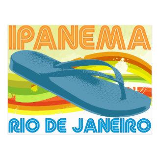 Rétro Rio Ipanema Carte Postale