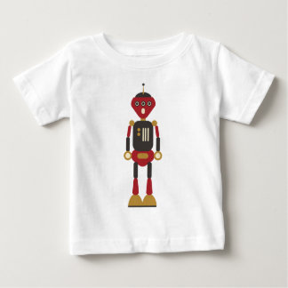 Rétro robot 3-Eyed drôle T-shirt Pour Bébé