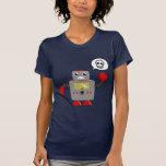 Rétro robot rouge de griffe t-shirt