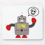 Rétro robot rouge de griffe tapis de souris