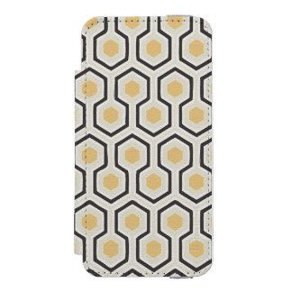Rétro ruche de motif de nid d'abeilles coque-portefeuille iPhone 5 incipio watson™