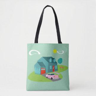 Rétro sac fourre-tout suburbain à Chambre