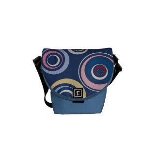 Rétro sac messenger génial à cercles sacoche