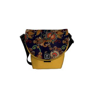 Rétro sac messenger vintage coloré de Paisley Sacoche