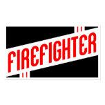 rétro sapeur-pompier carte de visite standard