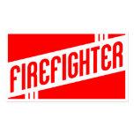 rétro sapeur-pompier modèles de cartes de visite