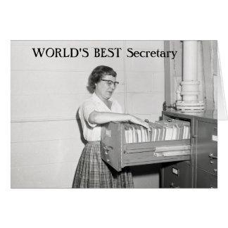 Rétro secrétaire carte de vœux