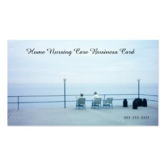 Rétro service à la maison bleu d'aide de soin carte de visite standard