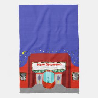 Rétro serviette de cuisine de salle de cinéma serviette pour les mains