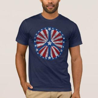 Rétro signe de paix américain t-shirt