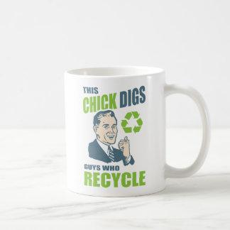 Rétro slogan de réutilisation drôle mug