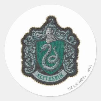 Rétro Slytherin crête puissante de Harry Potter | Sticker Rond