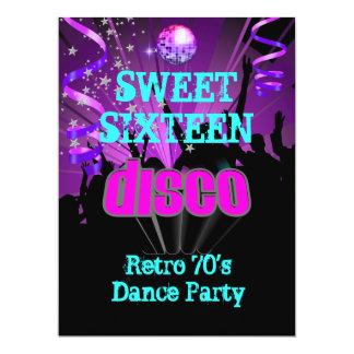 Rétro soirée dansante 3 de disco des années 70 du cartons d'invitation personnalisés