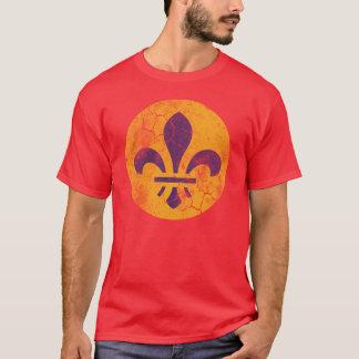 Rétro St Louis patriotique Flag Fleur De Lis T-shirt
