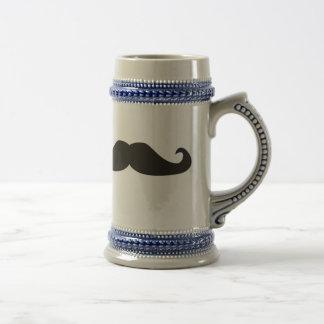 Rétro stein de bière de hippies de moustaches de chope à bière