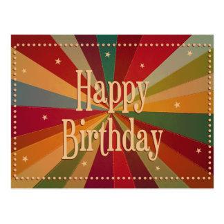 Rétro Sunbeam coloré - carte d'anniversaire Cartes Postales