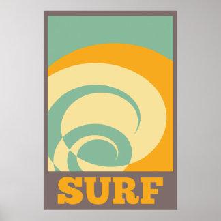 Rétro surf tribal poster