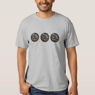rétro T-shirt d'art de bruit de nickel de crâne