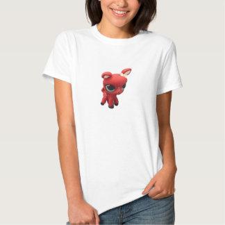 Rétro T-shirt de cerfs communs rouges