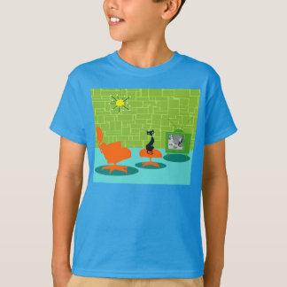 Rétro T-shirt de Kitty d'âge d'espace