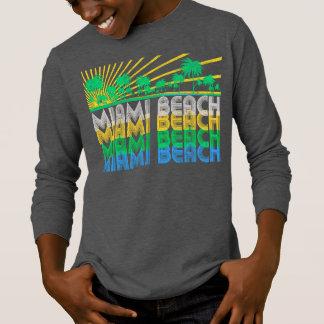 Rétro T-shirt de Miami Beach la Floride de vert