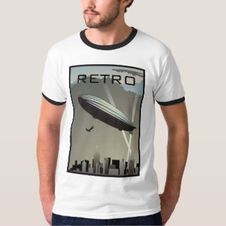 Rétro T-shirt de sonnerie d'horizon de zeppelin