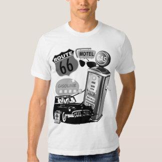 rétro T-shirt de voyage par la route de